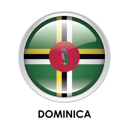 dominica: Round flag of Dominica