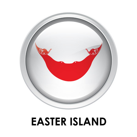 easter island: Round flag of Easter Island