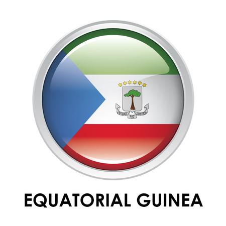 equatorial guinea: Round flag of Equatorial Guinea Stock Photo