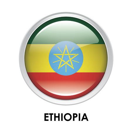 ethiopia: Round flag of Ethiopia