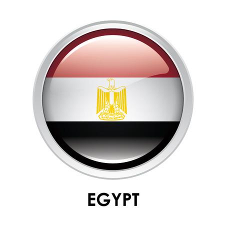 egypt flag: Round flag of Egypt
