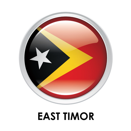 east: Round flag of East Timor