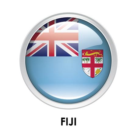 fiji: Round flag of Fiji