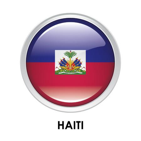 haiti: Round flag of Haiti