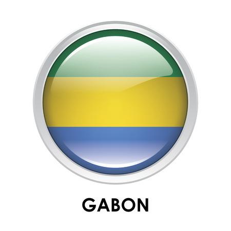 gabon: Round flag of Gabon