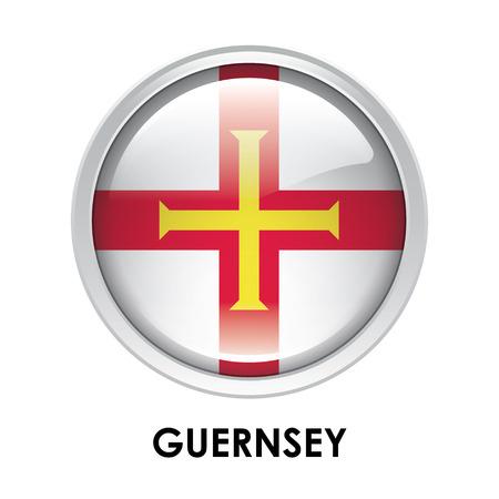 guernsey: Round flag of Guernsey Stock Photo