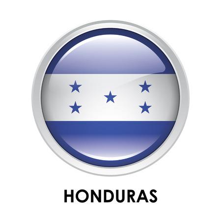 bandera honduras: La bandera redonda de Honduras
