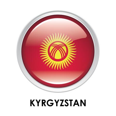 kyrgyzstan: La bandera redonda de Kirguistán