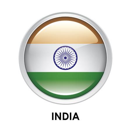 bandera de LA INDIA: La bandera redonda de la India