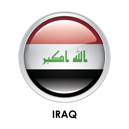 round: Round flag of Iraq