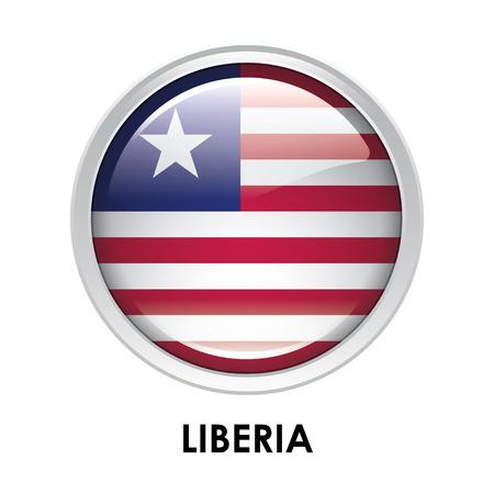 liberia: Round flag of Liberia