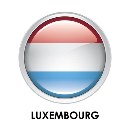 luxembourg: Round flag of Luxembourg