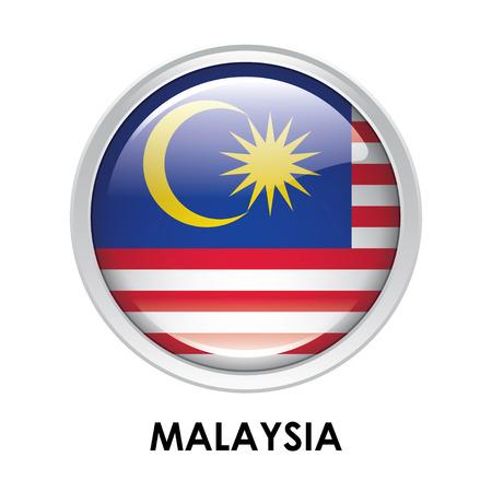 Round flag of Malaysia
