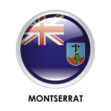 montserrat: Round flag of Montserrat