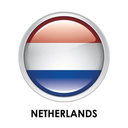 netherlands: Round flag of Netherlands Stock Photo