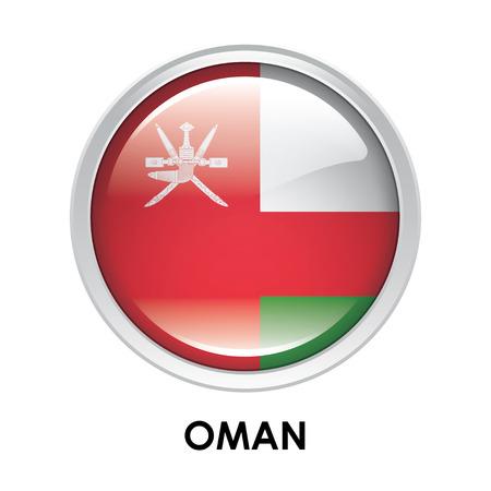 oman: Round flag of Oman Stock Photo