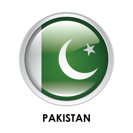 pakistan: Round flag of Pakistan Stock Photo