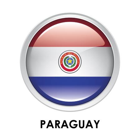 bandera de paraguay: La bandera redonda de Paraguay
