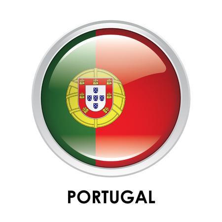 bandera de portugal: La bandera redonda de Portugal