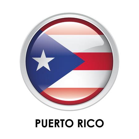 bandera de puerto rico: Indicador redondo de Puerto Rico Foto de archivo