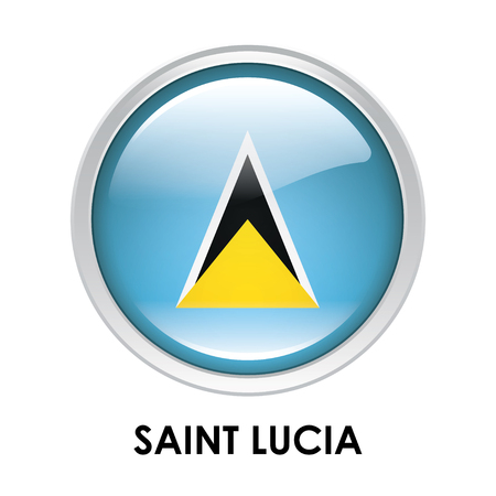 saint lucia: Round flag of Saint Lucia