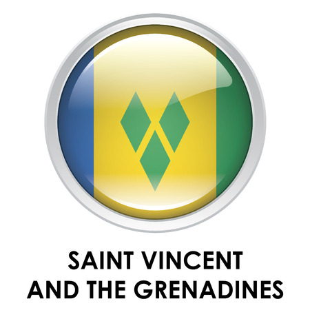 grenadines: Round flag of Saint Vincent and The Grenadines