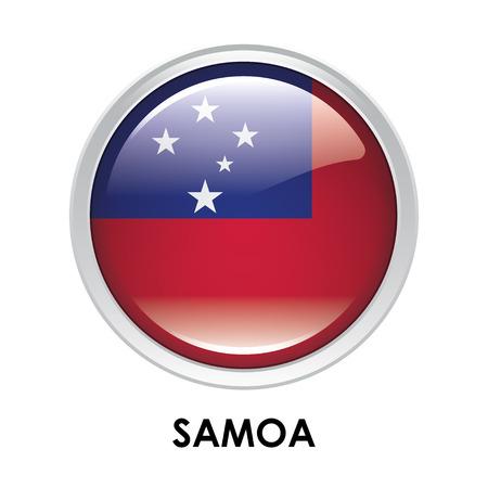 samoa: Round flag of Samoa