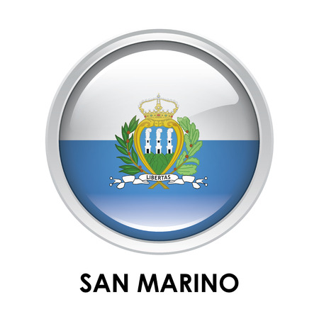 san marino: Round flag of San Marino
