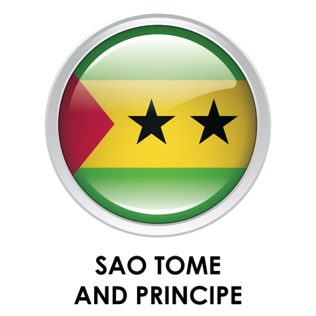 tome: Round flag of Sao Tome and Principe Stock Photo