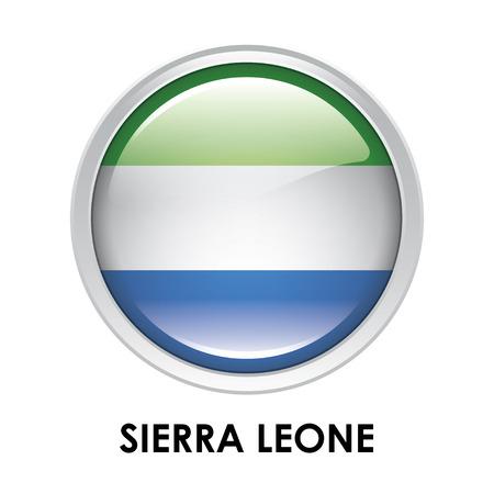 sierra leone: Round flag of Sierra Leone