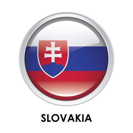 round: Round flag of Slovakia
