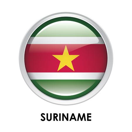 suriname: Round flag of Suriname Stock Photo