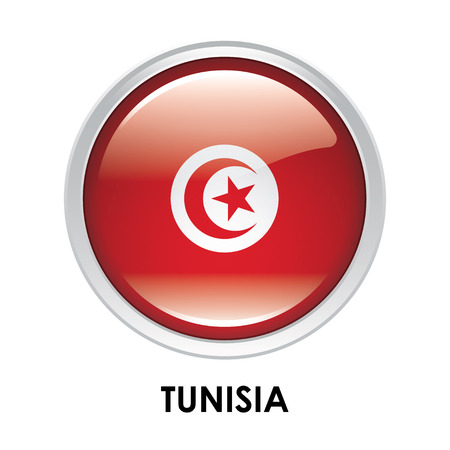 tunisia: Round flag of Tunisia Stock Photo