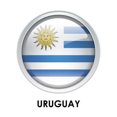 bandera de uruguay: La bandera redonda de Uruguay Foto de archivo
