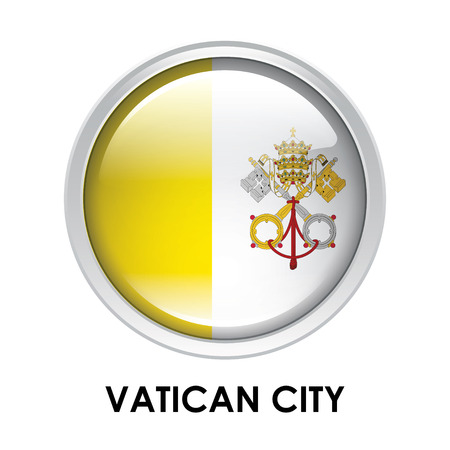 vatican city: Round flag of Vatican City