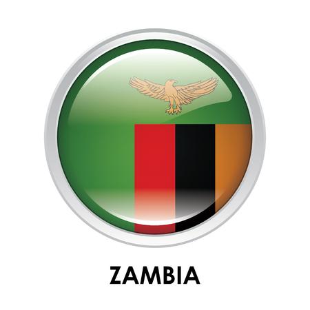zambia: Round flag of Zambia