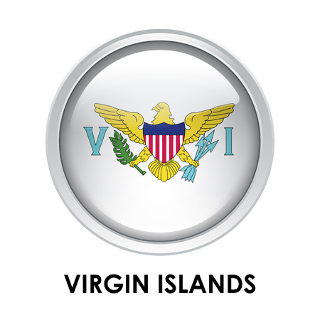 virgin islands: Round flag of Virgin Islands
