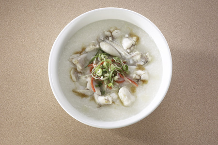 Congee with frog meat
