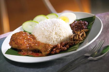 lemak: Asian food nasi lemak