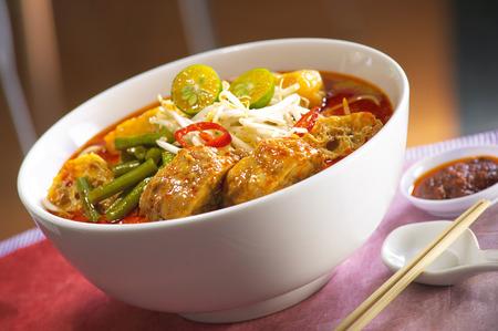 laksa: Curry laksa noodle