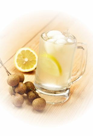 longan: Lemon and longan juice