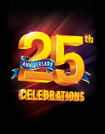 anniversaire: célébrations du 25e anniversaire Banque d'images