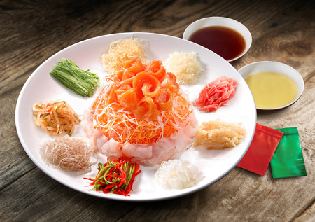 イーサン、中国の旧正月のお祝い料理