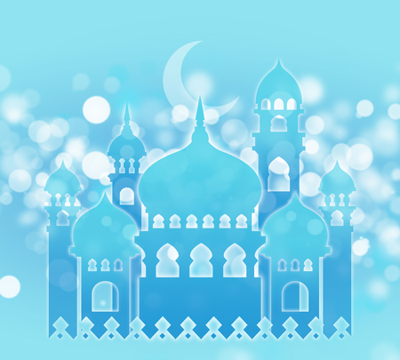 crescent: Mosque Islamic background