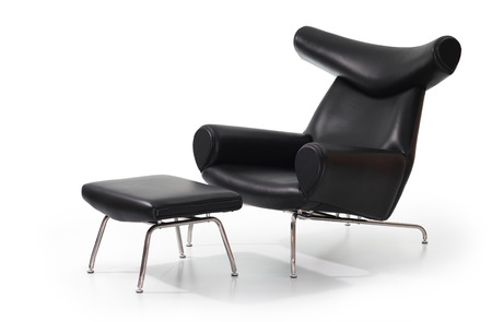 Modern black lounge sofa Stock Photo