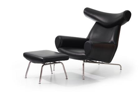 Modern black lounge sofa Standard-Bild