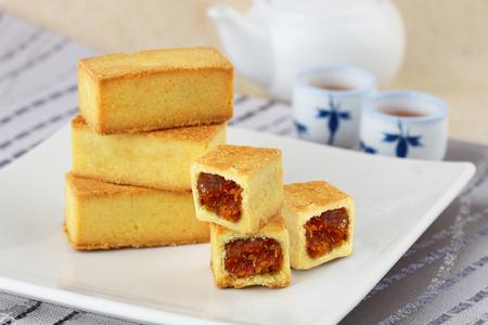 Delicious Taiwanese pineapple tart Stockfoto