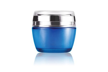 Cosmetic container on white background