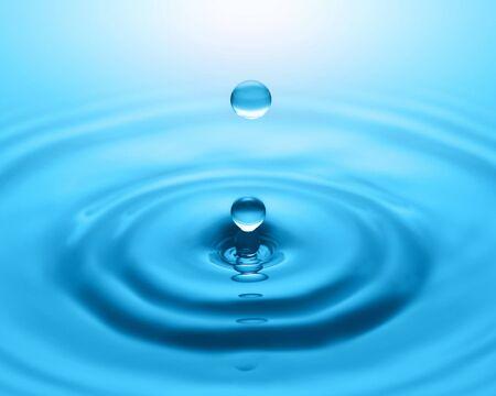 Cerca de la gota de agua y salpicaduras