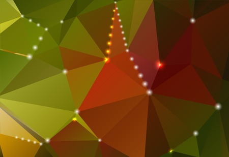 Abstract horizontal background with triangular gradient shapes and shiny circles Vector